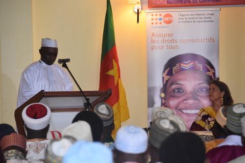 Dr. Moussa Oumarou lors de son discours.